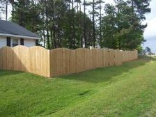 Convex Wood Fence
