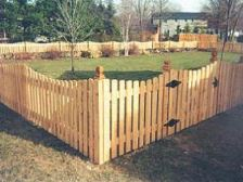 Wood Picket Fence Rock Hill SC