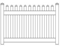 All Seasons Vinyl Fencing Products: Picket Fencing