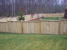 6ft Solid Step Down Fence Spartanburg SC